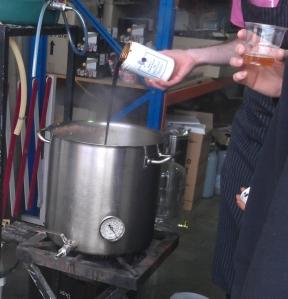 Adding Candi Syrup